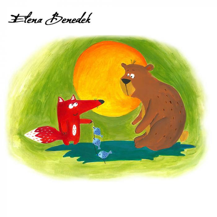 Poster decorativ pentru copii - Ursul pacalit [2]