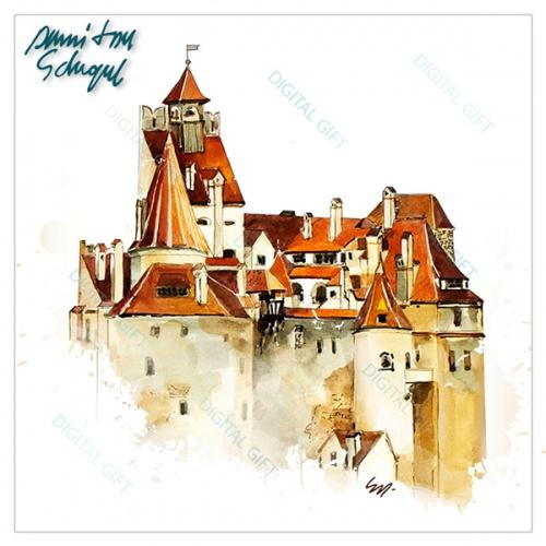 Sacoșă clasică - Castelul Bran [1]