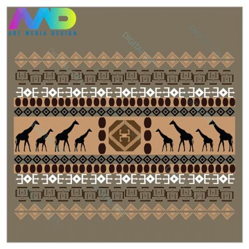 Sacoșă XXL - Motive africane 2