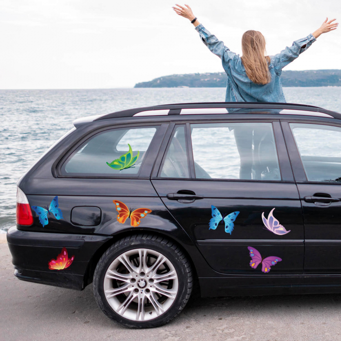 Set de stickere auto - Fluturi [0]