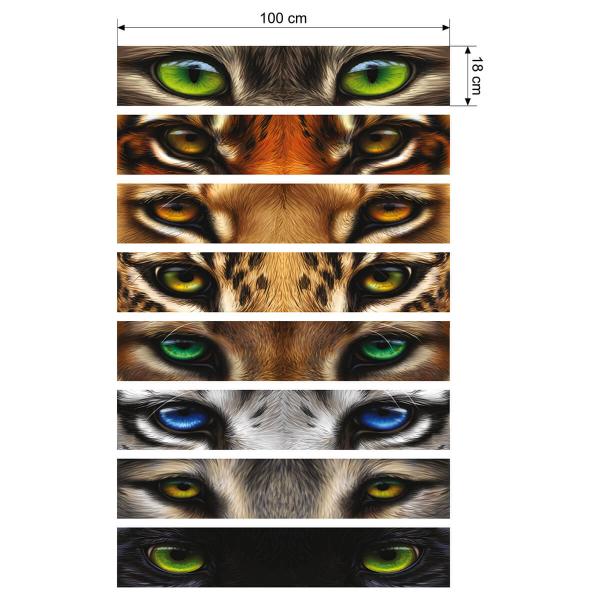 Set de stickere pentru contratrepte - Ochi sălbatici 1