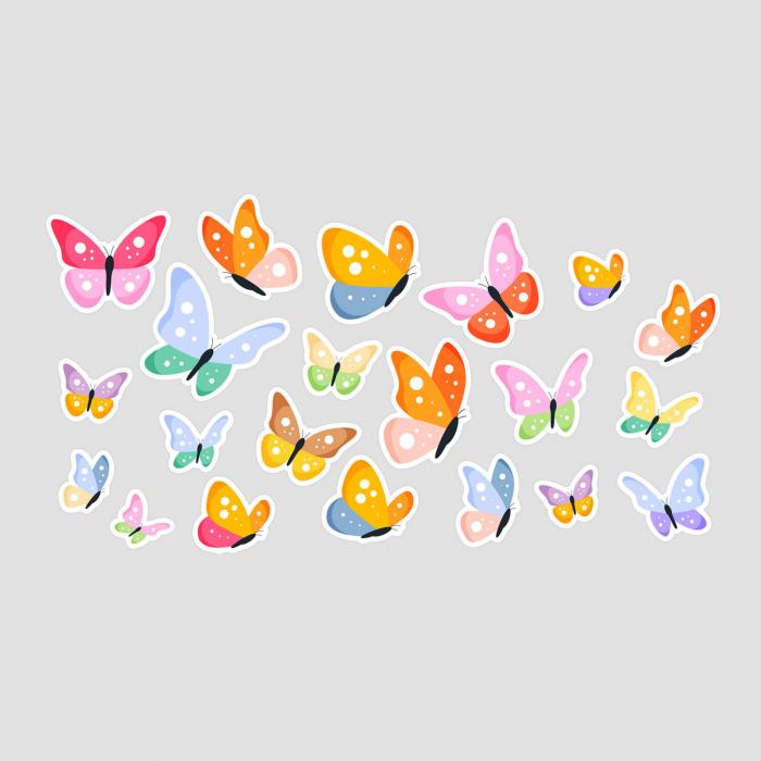 Set stickere auto - Fluturi multicolori #154 [1]