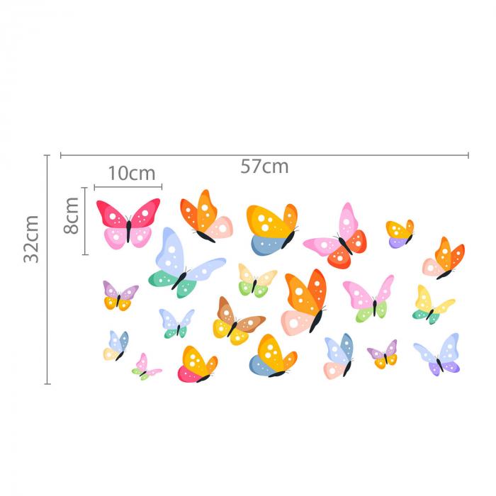 Set stickere auto - Fluturi multicolori #154 [2]