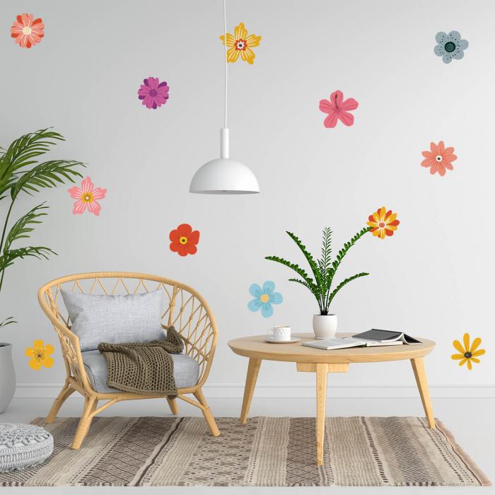 Set stickere pentru perete - Flori multicolore #161 [0]
