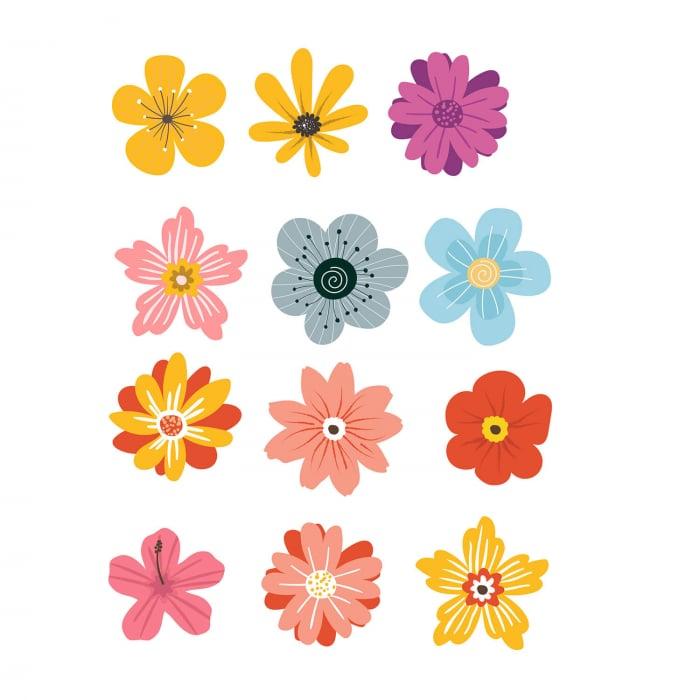 Set stickere pentru perete - Flori multicolore #161 [1]