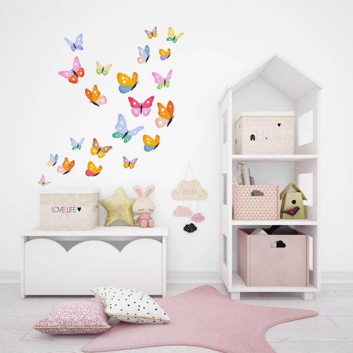 Set stickere pentru perete - Fluturi multicolori #154 [0]