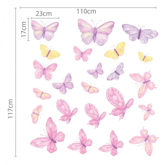 Set stickere pentru perete - Fluturi pictați [2]