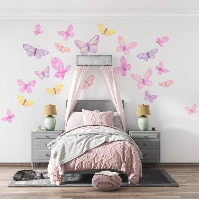 Set stickere pentru perete - Fluturi pictați [0]