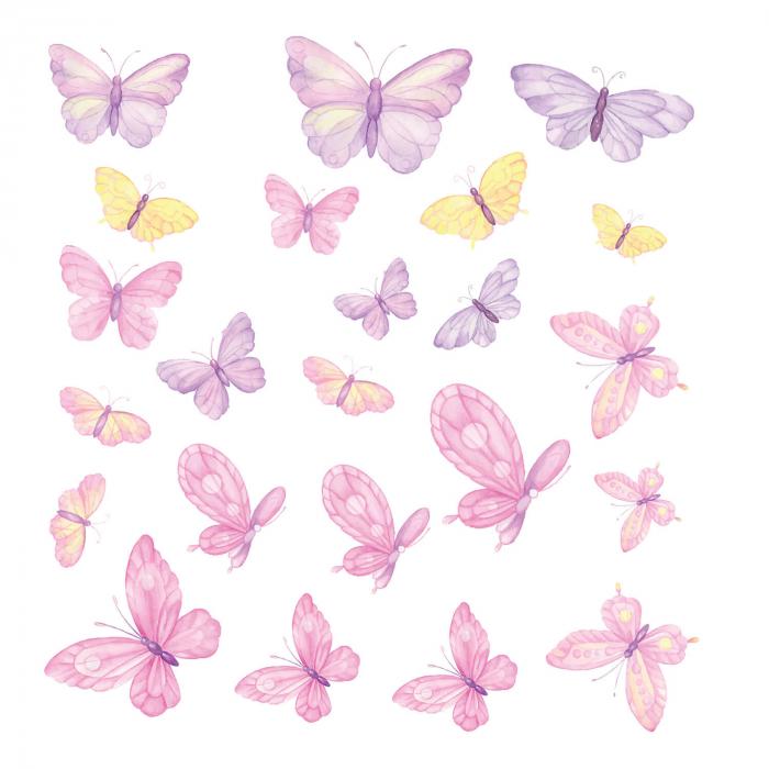 Set stickere pentru perete - Fluturi pictați [3]