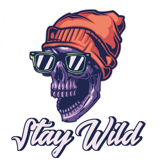 Sticker auto&moto - Stay wild skull [1]