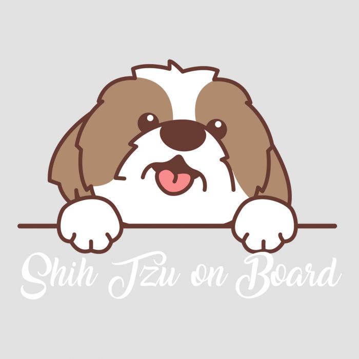 Sticker auto - Shih Tzu on board [1]