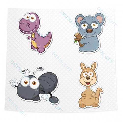 Pachet de stickere clasice - Animale 02 [3]