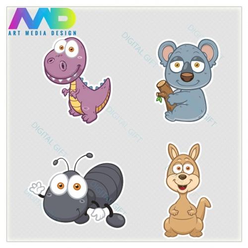 Pachet de stickere clasice - Animale 02 [7]