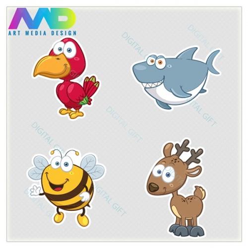 Pachet de stickere clasice - Animale 02 [4]