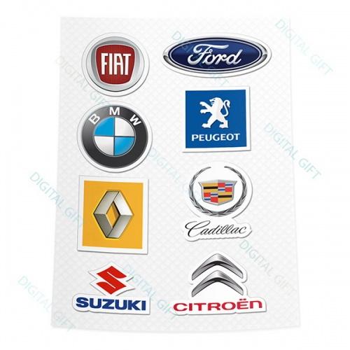 Pachet de stickere clasice - Mărci auto 3