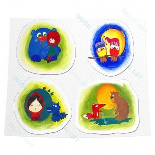 Packet de stickere clasice - Poveștile copilăriei 0