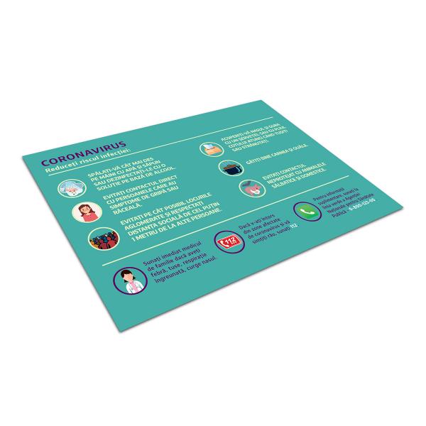 """Sticker informativ Covid-19 - """"Cum reducem riscul infecției?"""" [2]"""