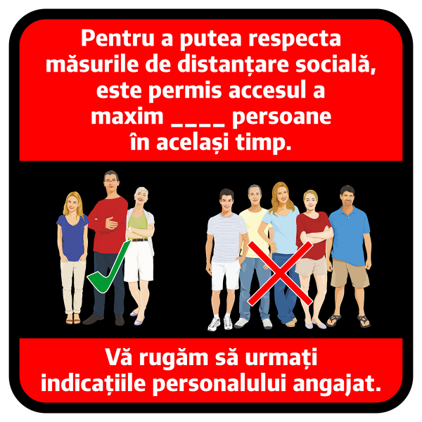 "Sticker informativ Covid-19 - ""Număr maxim de persoane admis"" 0"