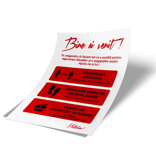 """Sticker informativ Covid-19 - """"Recomandări pentru clienți"""" 2"""