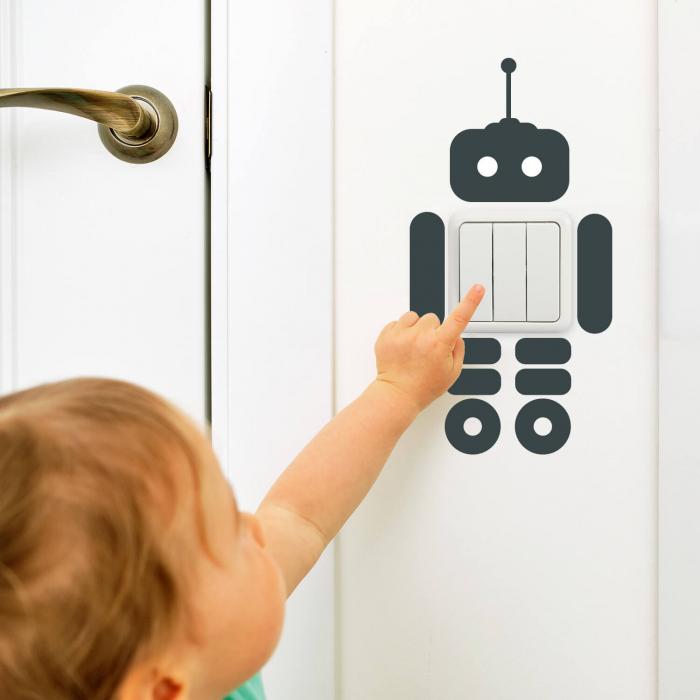 Sticker pentru întrerupător - Roboțel [0]
