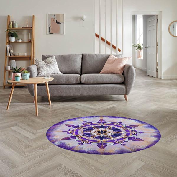 """Sticker pentru pardoseală - Mandala """"Coroana"""" 0"""