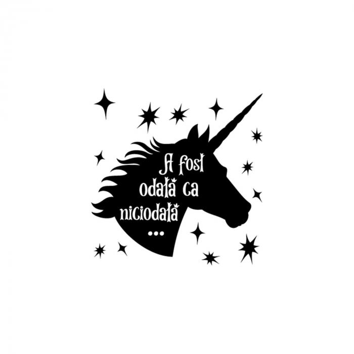 Sticker de perete - A fost odata un unicorn [1]