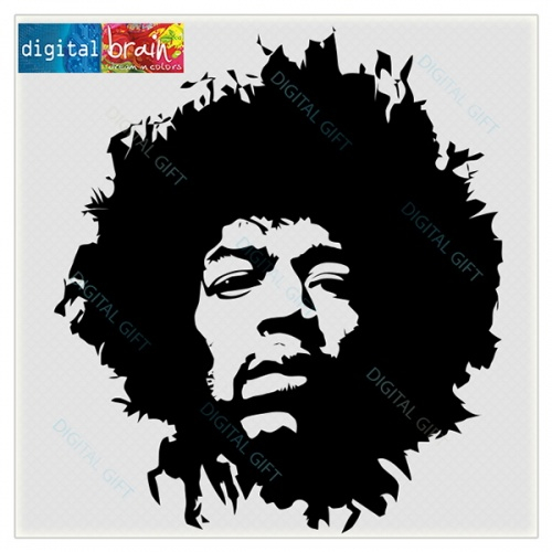Sticker decorativ perete - Jimi Hendrix 1