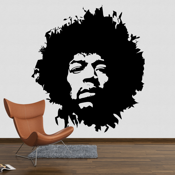 Sticker decorativ perete - Jimi Hendrix 0