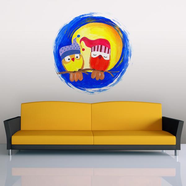 Sticker decorativ perete - La lumina lunii 0