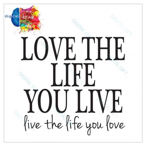Sticker decorativ perete - Love the life 1