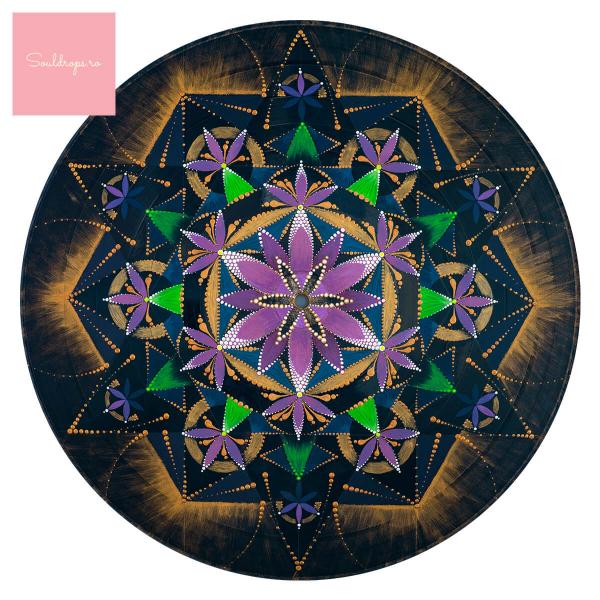 "Sticker decorativ perete - Mandala ""Constiinta extinsa"" 1"