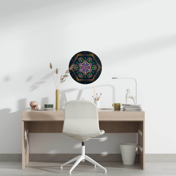 "Sticker decorativ perete - Mandala ""Constiinta extinsa"" 0"