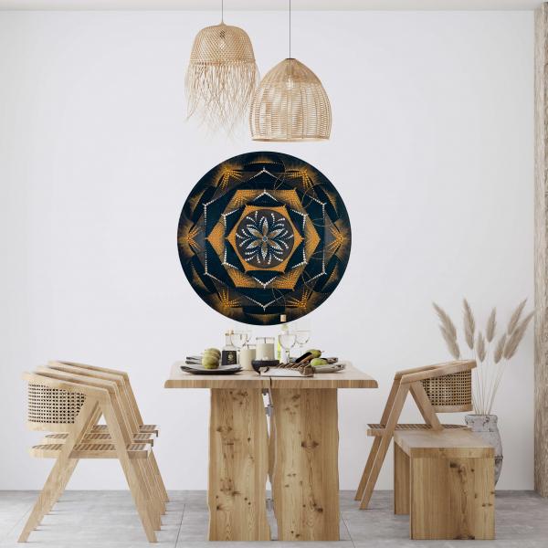 """Sticker decorativ perete - Mandala """"Despre lumină"""" 0"""