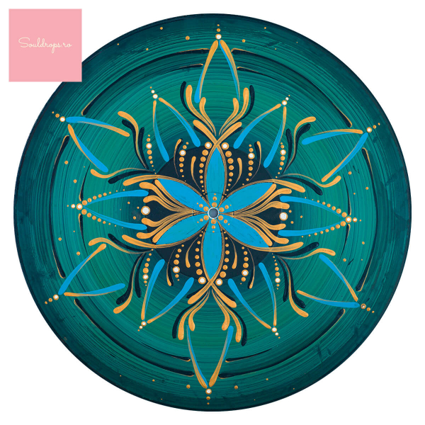 "Sticker decorativ perete - Mandala ""Vishuddha"" 1"