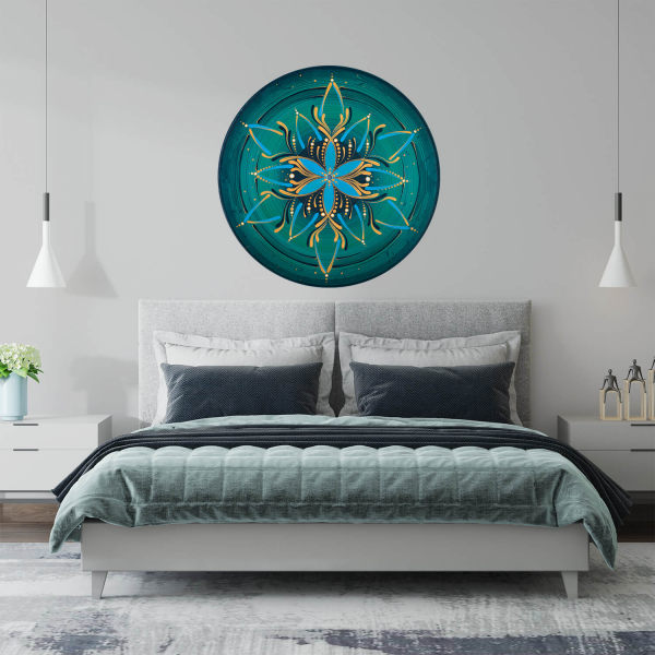 "Sticker decorativ perete - Mandala ""Vishuddha"" 0"