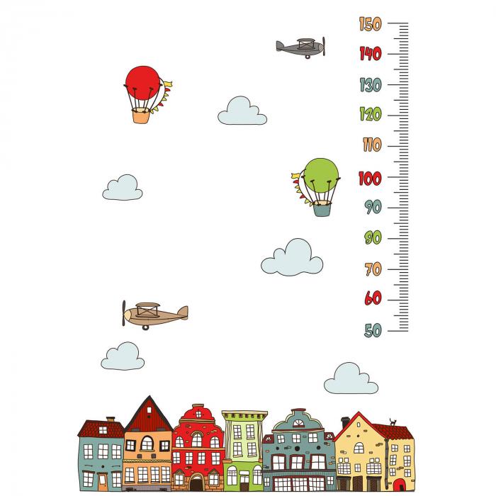 Sticker decorativ de perete - Metru cu baloane [1]