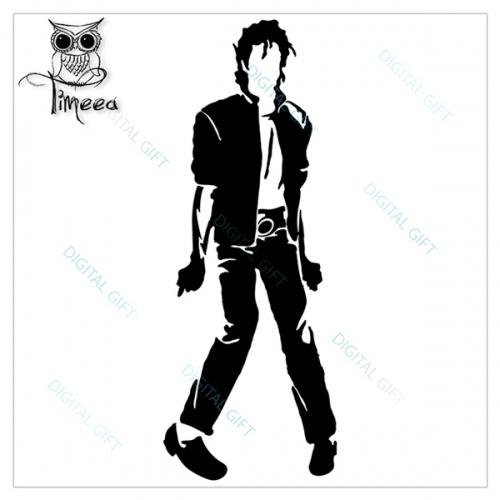 Sticker decorativ perete - Michael Jackson 1