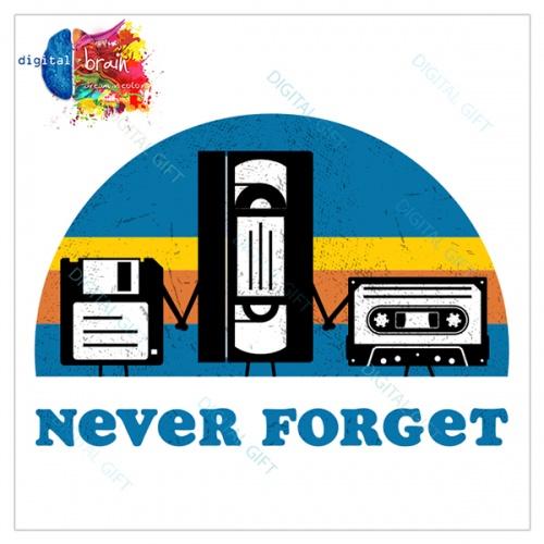Sticker decorativ perete - Never forget 1