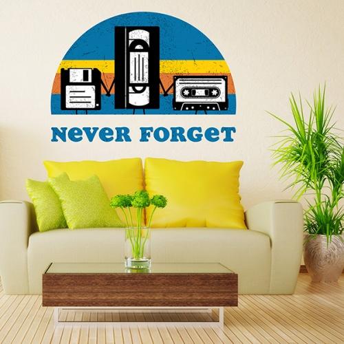 Sticker decorativ perete - Never forget 0