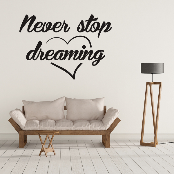 Sticker decorativ perete - Never stop 0