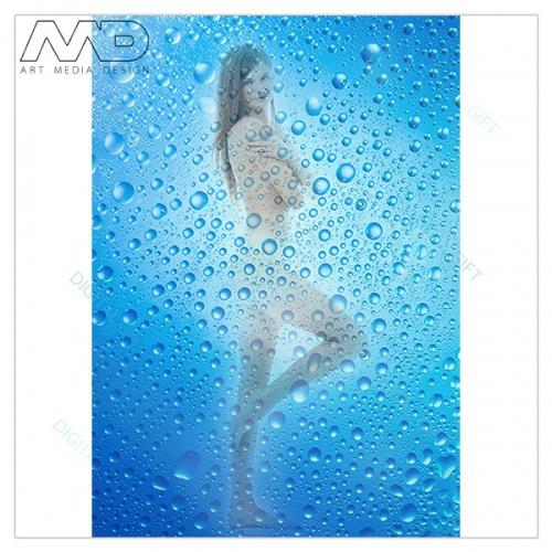 Sticker pentru ușă - Picături de apă 1