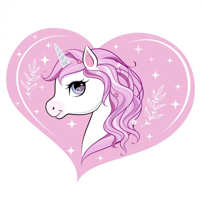 Sticker decorativ de usa - Sunt un unicorn 1