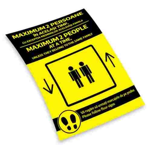Sticker prevenție Covid-19 bilingv - Maxim 2 persoane [2]