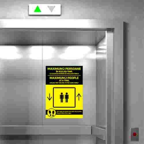 Sticker prevenție Covid-19 bilingv - Maxim 2 persoane [1]