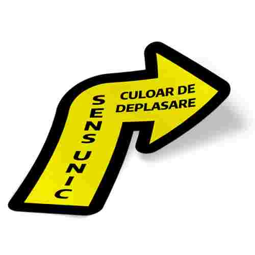 Sticker prevenție Covid-19 pentru pardoseală - Săgeată spre dreapta 2