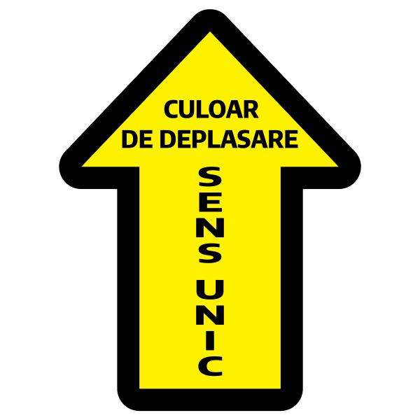 Sticker prevenție Covid-19 pentru pardoseală - Săgeată 0