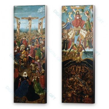 Tablou compus - Jan van Eyck - The Crucifixion; The Last Judgment 0
