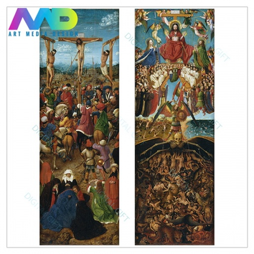 Tablou compus - Jan van Eyck - The Crucifixion; The Last Judgment 1