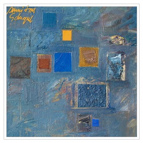 Tablou simplu - Abstract, ritm pe albastru 1