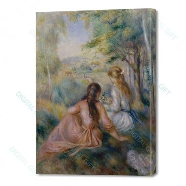 Tablou simplu - Auguste Renoir - În luncă 0